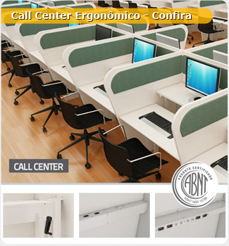 Baia para Call Center Ergonômico