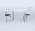 Conjunto 6 - Mesa para refeitório e cadeiras